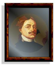 Практика. Создание портрета под стеклом. Результат выполнения упражнения.