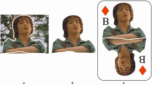 Выделение части точечного изображения и настройка линии стыковки точечных изображений с помощью контейнеров фигурной обрезки